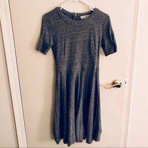 LOFT Simple Gray Dress with Short Sleeve - 4